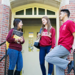 Photo of students outside of Residence Hall at FSU